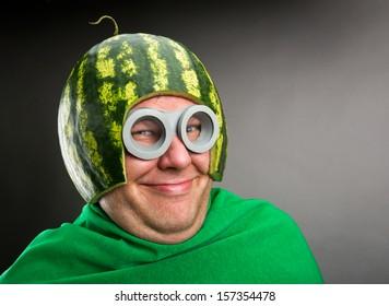 funny-man-watermelon-helmet-googles-260nw-157354478